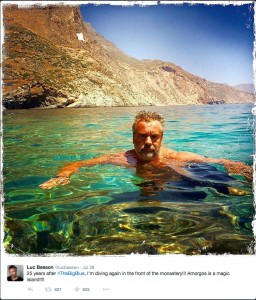 25 years after #TheBigBlue, I'm diving again in the front of the monastery!!! Amorgos is a magic island!!!!