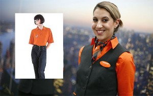 Just look at the 1995 outfit. Those baggy black jeans (from Tesco, according to some sources) and polo shirt (from United Colours of Benetton) scream low cost. Today, easyJet's uniforms are as dashing as those of its full-service rivals, and it's even trialling wearable technology.