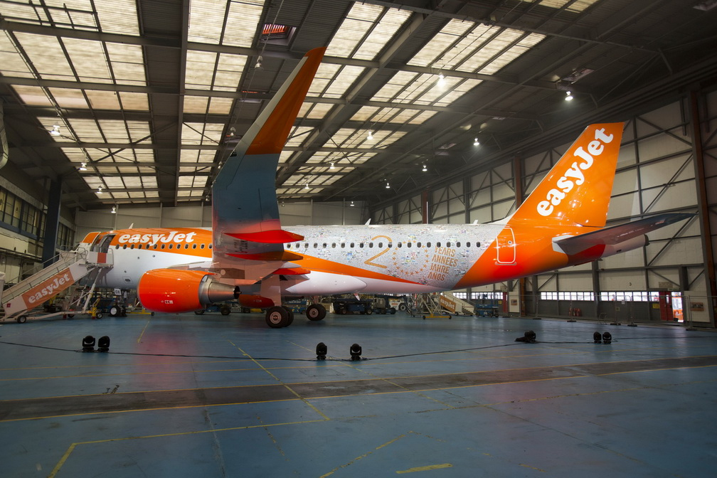 EASYJET CELEBRATE THE BIRTHDAY  AT THEIR HEADQUATERS IN LUTON TODAY.