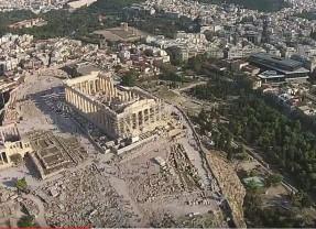 Acropolis, Athens Greece, Aerial Tour