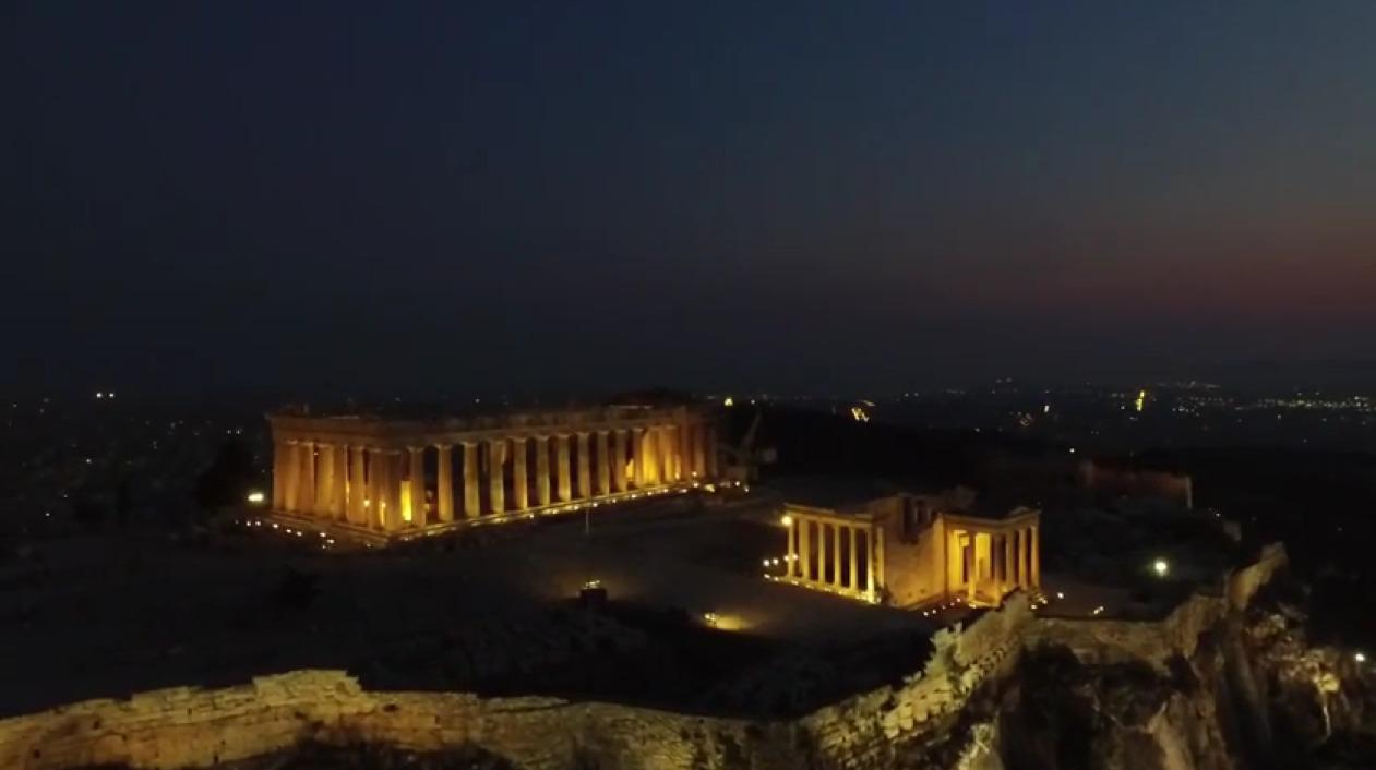 Acropolis Athens 2015 Greece aerial