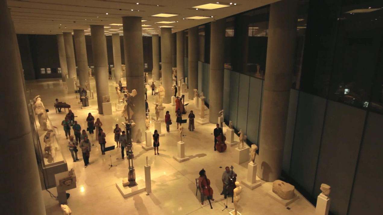 Manos Hadjidakis' Gioconda's Smile @ the Archaic Gallery of New Acropolis Museum