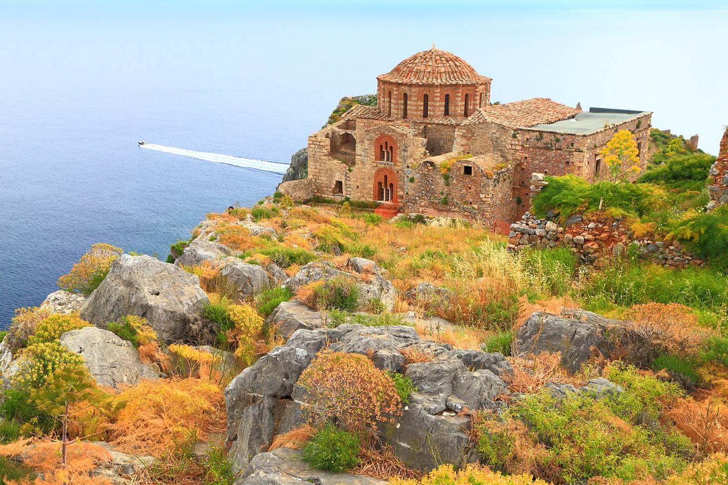 Clamber around the rock castle of Monemvasia