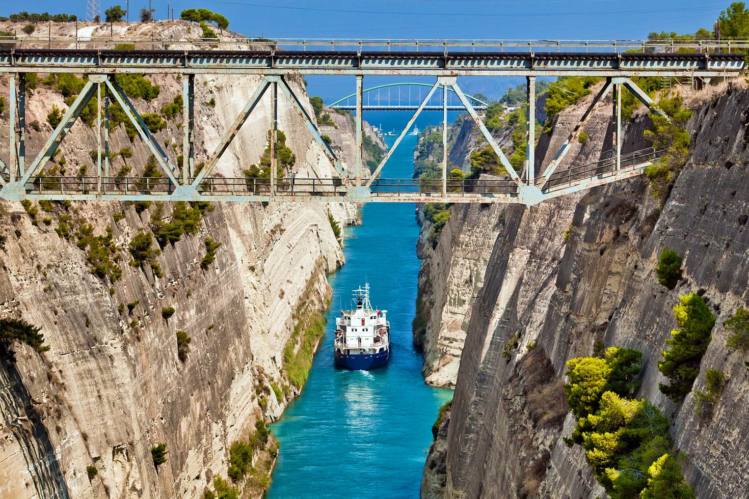 Cross the Corinth Canal to the Nemea wine region