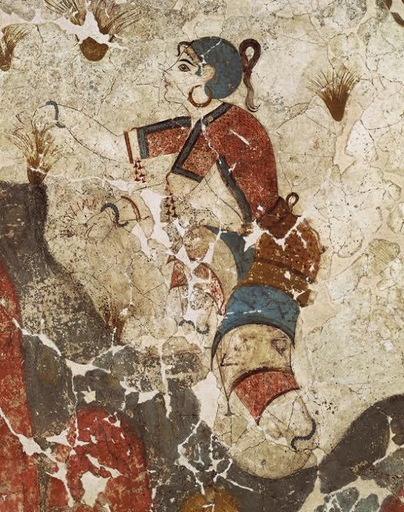 Τοιχογραφία από τον προϊστορικό οικισμό του Ακρωτηρίου