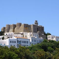 Patmos island from above