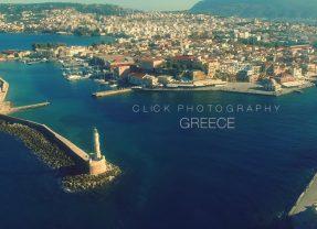 Chania Crete drone video aerial