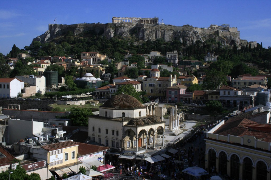 Acropolis view from Monastiraki