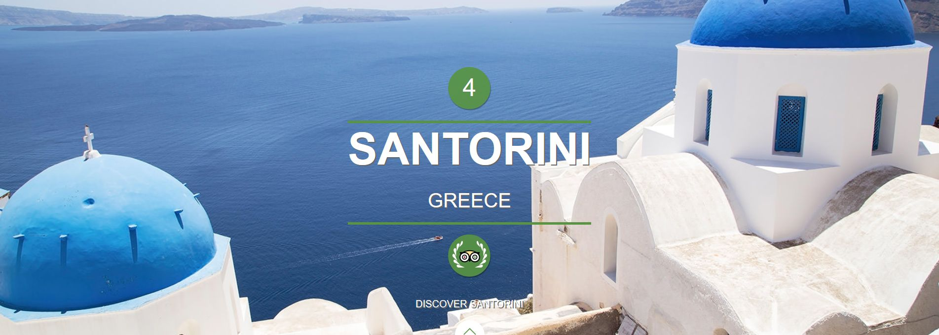 Santorini nominated as #4 World Island and #1 Europe Island @ 2015 TripAdvisor Traveler's Choice