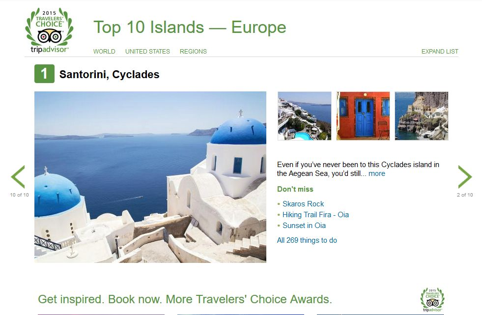 Top Island Europe Santorini, Cyclades