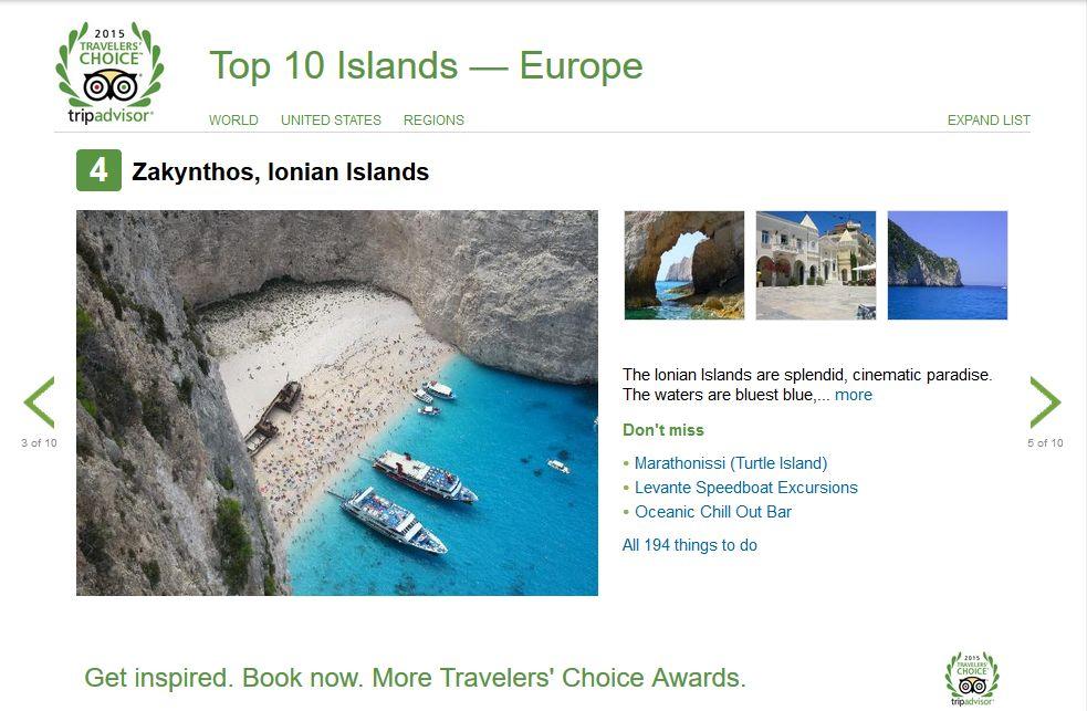 4 island Europe Zakynthos