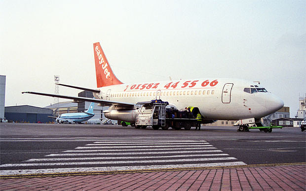 Very little has changed on this front - the future is still orange. In 1995, however, before it had gone online, the airline's telephone number was splashed across the side of its aircraft:
