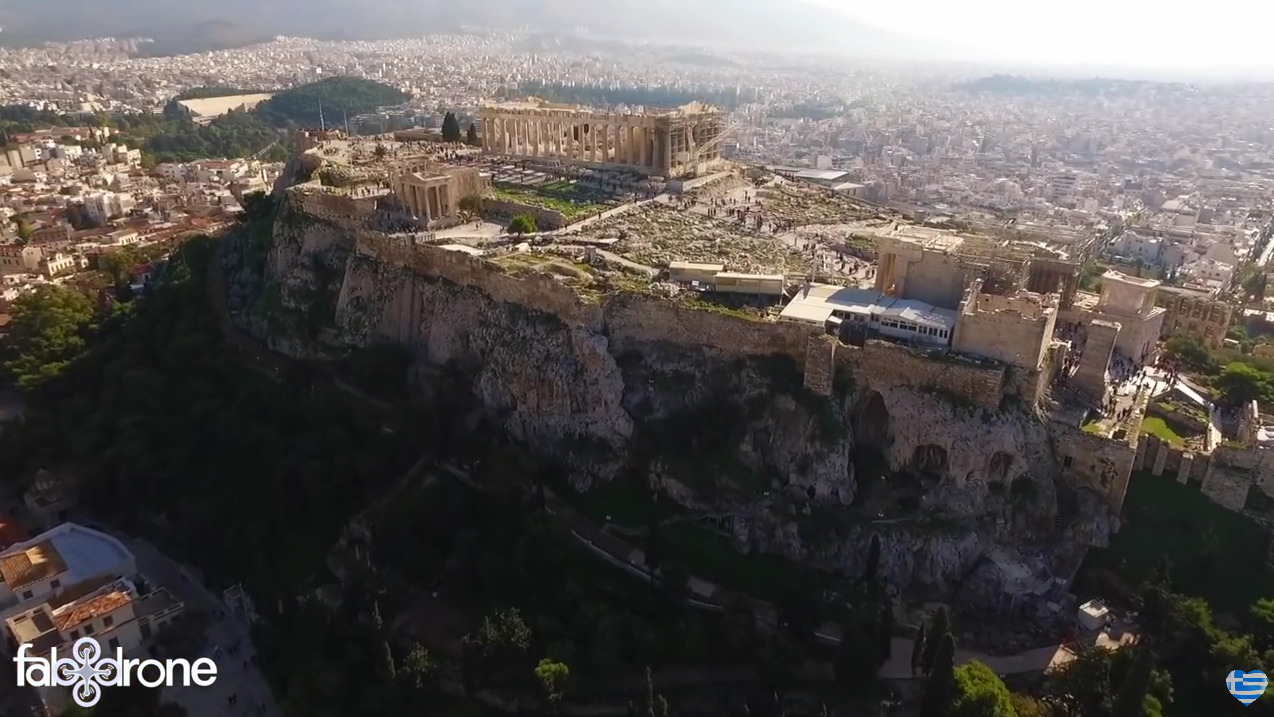 Aerial view of Acropolis & the Parthenon
