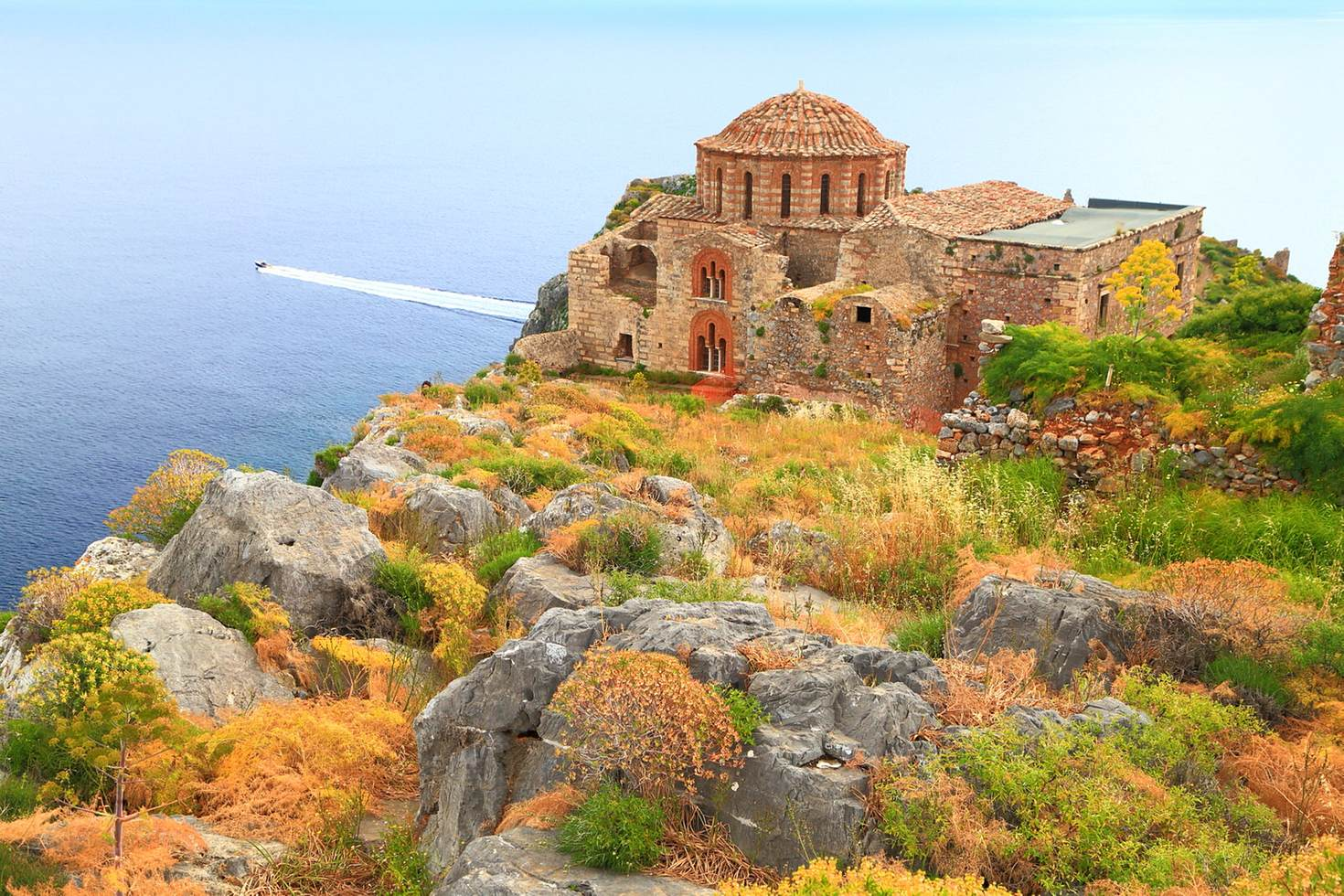 Clamber around the rock castle of Monemvasia