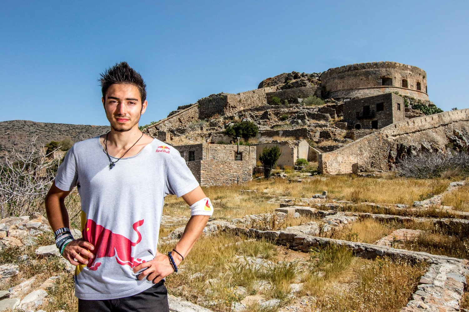 Dimitris Kyrsanidis poses for a portrait in Spinalonga island, Greece on April 13th, 2016
