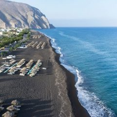 Perissa among the top 10 black sand beaches of the world