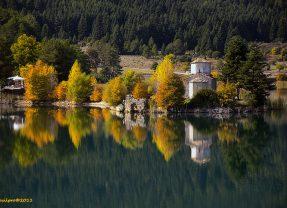 Λίμνη Δόξα Κορινθία από ψηλά