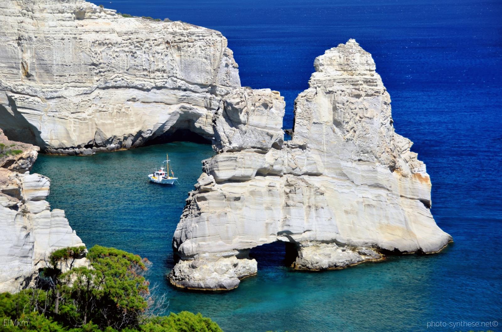 Kleftiko Milos  Travelling Greece