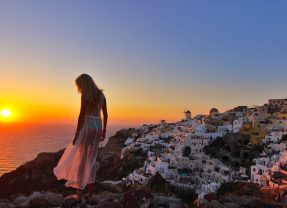 Santorini in the 10 romantic islands by USA Today