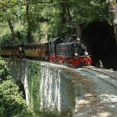 Moutzouris Pelion's Legendary Train on the Tracks again