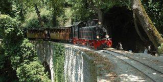 Moutzouris Pelion's Legendary Train on the Tracks again